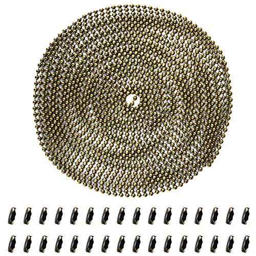 Cizen Catena in Rilievo Estensione, Catena in Acciaio Nichelato con 30 Connettori Corrispondenti per Collana Bracciali - 5m, Rame