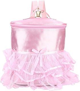Fditt Pink Color Girls Ballet Dance Dancing Handbag Child Ballerina Kids Shoulder Bag Ballet Backpack(Long)