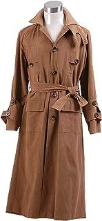 GOTEDDY Men's Rick Deckard Costume Cosplay Brown Long Trench Coat Jacket