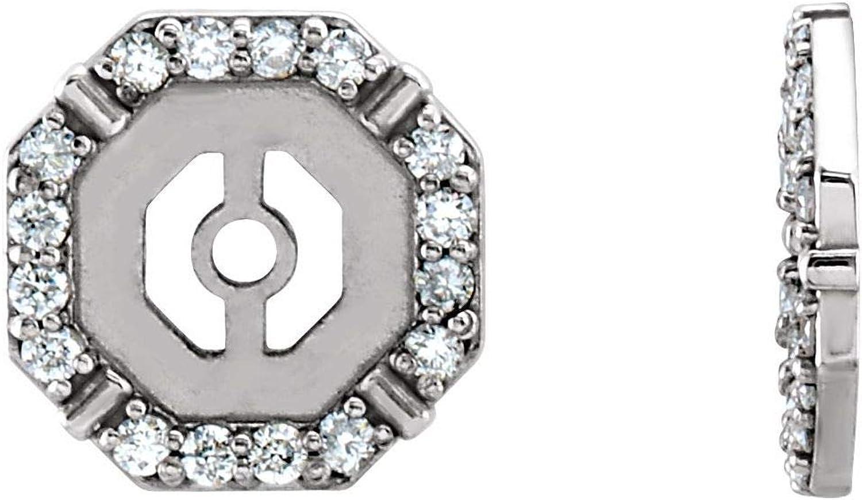 14k Gold 1/6 CTW Diamond Earring Jackets for Women