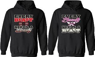 Every Beast Needs a Beauty & Every Beauty Needs a Beast - Matching Couple Hoodies - His and Her Love Sweaters
