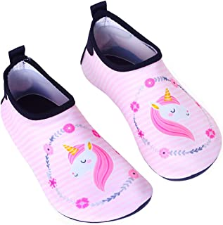 Anddyam Girls and Boys Quick-Dry Outdoor Water Shoes Aqua Socks Shoes for Beach Pool Surf Yoga Exercise