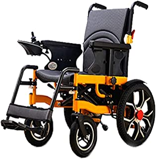 FTFTO Inicio Accesorios Ancianos Discapacitados Silla de Ruedas eléctrica Silla de Ruedas de Ayuda a la Movilidad Plegable con baterías Potente Motor Dual Velocidad 06 Km/H Kilometraje 1020 Km