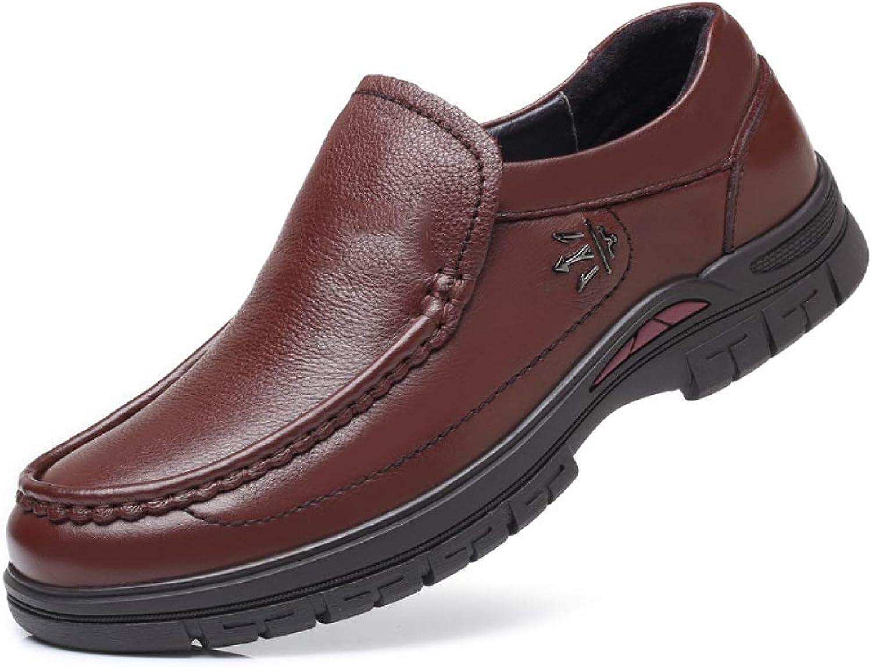 HhGold Lederne Schuhe Mnner, Super-umgewandelte weiche Unterseite der Mnner koreanische Version der Freizeitschuhe Gre der Mnner Schuhe 45, 46 (Farbe   Braun, Gre   42)