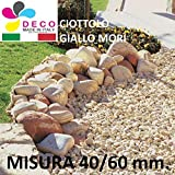 Decomadeinitaly CIOTTOLO per Giardino Giallo Mori Mis. 40/60 Sacco da (25kg.), Pietra per Giardino,CIOTTOLO per Giardino