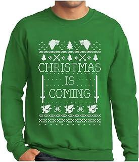 Tstars - Christmas is Coming Ugly Christmas Sweater Sweatshirt