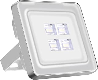Viugreum 10W LED Flood Light Outdoor, Thinner and Lighter Design, Waterproof IP65, 1000LM, Daylight White (6000-6500K), Super Bright Security Lights, for Garden, Yard, Warehouse, Square, Billboard