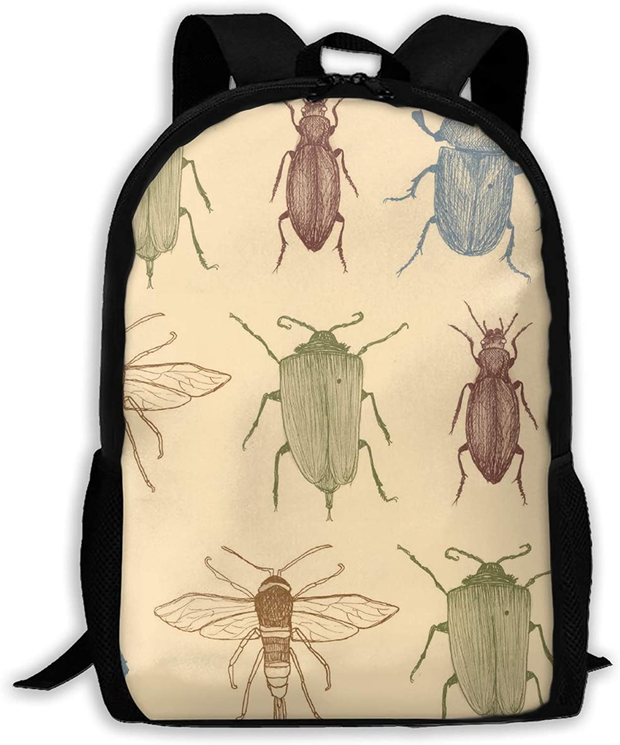 Adult Shoulder Bag Beetles Insect Multipurpose 3D Printing Casual Backpack School Bags for Travel Camping Hiking Outdoor Sports Men Women