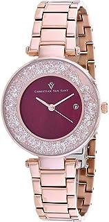 Christian Van Sant Women's Dazzle Quartz Stainless Steel Strap, Rose Gold, 16 Casual Watch (Model: CV1215)