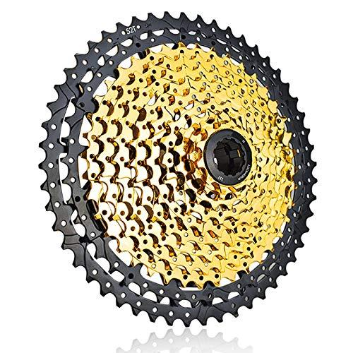 CLOUDH Ruota Libera per Bici A 11 Velocità, Cassetta per Bicicletta a Rapporto Largo 11-52T, Accessorio di Ricambio per Bicicletta, Adatto per Bici da Strada Shimano E Sram Mountain Bike