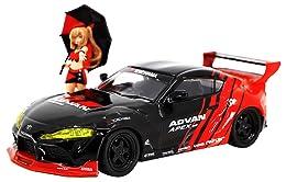 ジェネシスカンパニー POP RACE 1/64 パンデム GR SUPRA ADVAN LIVERY & レースクイーン セット