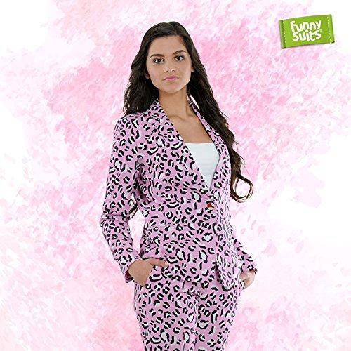 Funnysuits Rosie Jag Pinker Jaguar Damen Anzug Mister Pink 2-teiliges Kostüm Deluxe EU Size 42