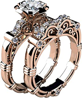 SEniutarm Engagement Love Rings Wedding Bands Health Care Weight Loss Fat Burning Slimming Rhinestone Magnetic Ring Jewelry for Women//Girl Finger Rings DIY Jewelry Gifts