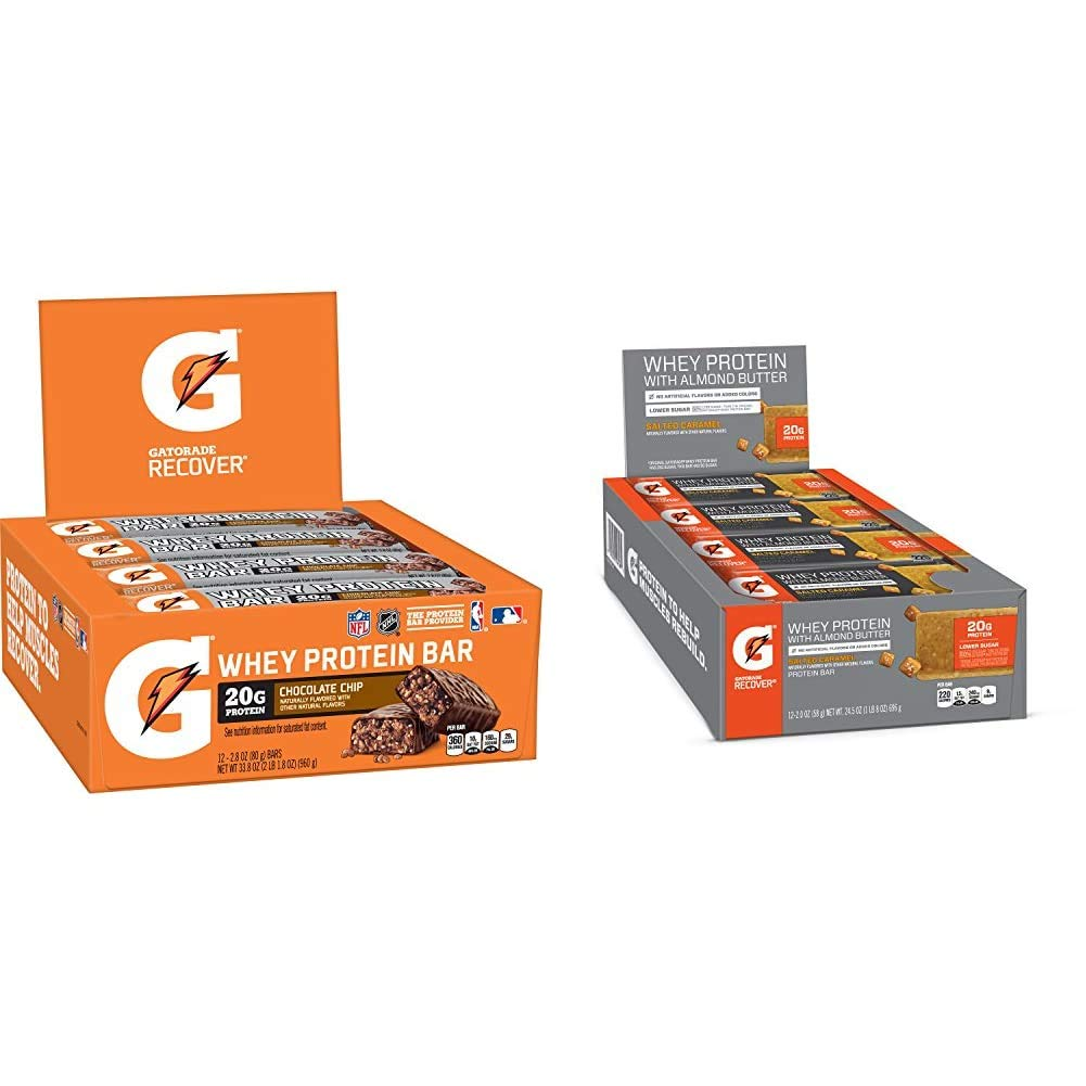 Gatorade Ranking TOP17 Super sale Whey Protein Recover Bars ba Chocolate ounce 2.8 Chip