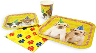 Blue Orchards Puppy Standard Party Packs (65+ Pieces for 16 Guests!), Puppy Party Supplies, Dog Themed Birthdays