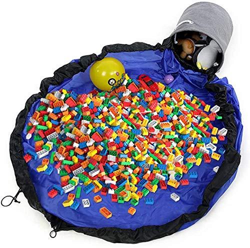 Imagen para Children Play Mat,Cestas de Almacenamiento Plegables,Saco de Almacenamiento,Bolsa de Almacenamiento de Juguetes,Juguetes Almacenamiento,Bolsa de Juguetes Bebe