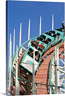 Great Big Canvas Gallery-Wrapped Canvas Entitled Giant Dipper Roller Coaster in Belmont Park on Mission Beach 16