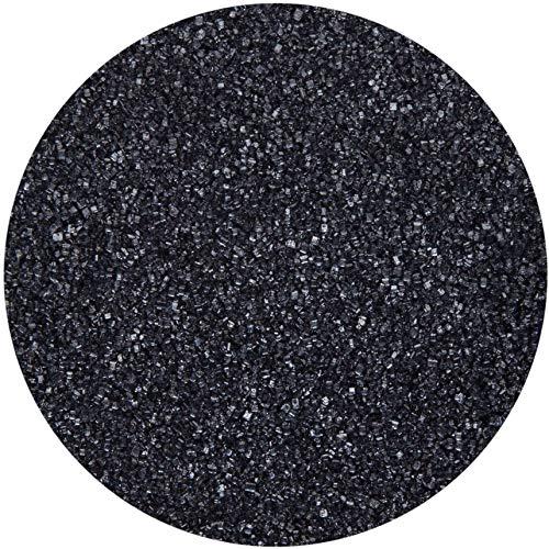 bunter Farb - Zucker Schwarz 500g Dekorzucker Glitzerzucker Streudekor Zuckerwatte