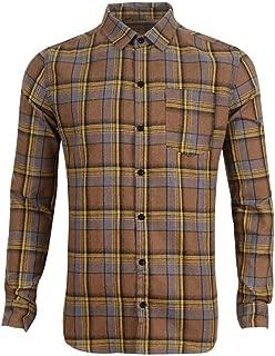 Men's Plaid Flannel Button Down Long Sleeve Work Casual Shirt