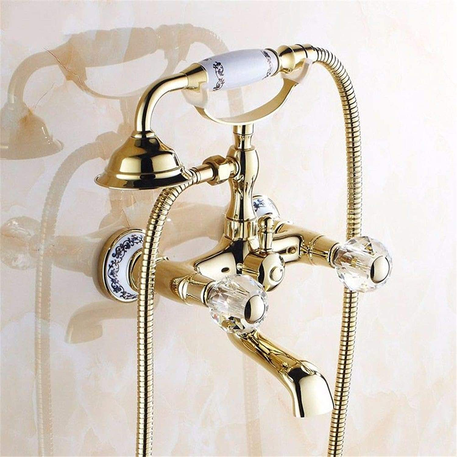 Hlluya Professional Sink Mixer Tap Kitchen Faucet The gold-copper antique Bath Faucet Shower Faucet with the water can be redated without fading Series L