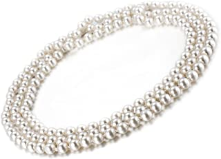 Faux Pearl Necklace Costume Jewelry Fashion Flapper Accessories 59 inch Long Necklaces for Women
