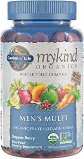 Garden of Life - mykind Organics Men's Gummy Vitamins - Berry - Certified Organic, Non-GMO, Vegan, Kosher Complete Multi -...