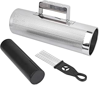 Metal Guiro with Scraper, Durable Smooth Surface Percussion Instrument, Reliable Sturdy for Professional Amateur Performance