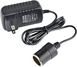 QLOUNI AC to DC Converter 2A 24W Car Cigarette Lighter Socket 110-240V to 12V AC/DC Power Adapter