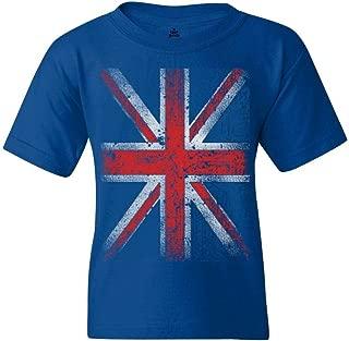 Shop4Ever Union Jack Youth's T-Shirt British Flag Shirts