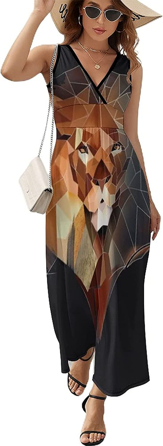 BAIKUTOUAN New color Abstract Lion Head Long Dress for Women S with Ranking TOP4 Summer