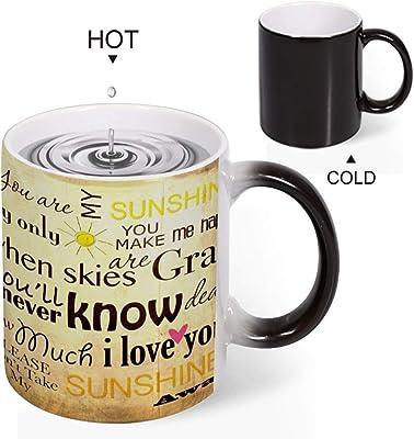 Discoloration Mug あなたは私のサンシャインです 変色マグコーヒーマグミルクカップホーム/オフィス/顧客カップルギフト330 ml耐久性のある耐熱水マグ