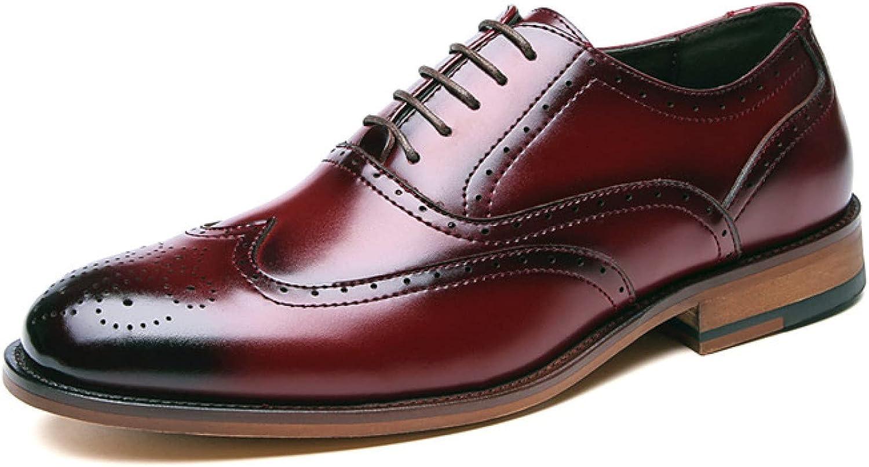 Men's Oxford Dress Casual Shoe Classic Formal Toe Oxfords Leather Men Comfortable Business Shoes 7528P