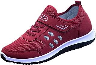 Qootent Women's Trail Running Shoes Breathe Mesh Walking Shoes Fashion Sneakers