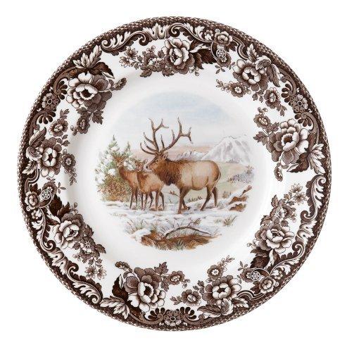Spode Woodland American Wildlife Elk Assiette à Salade en