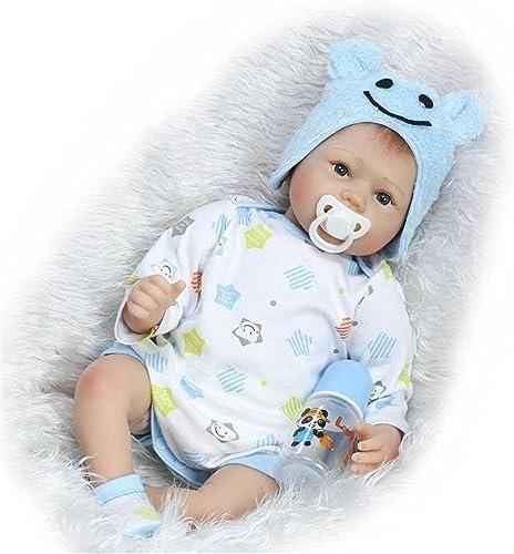 marca en liquidación de venta ZIYIUI Reborn Baby 22 Pulgadas 55 55 55 cm Reborn Baby Doll Silicona Boy Baby Doll Boca Magnética Juguete de Regalo Infantil  tienda de descuento