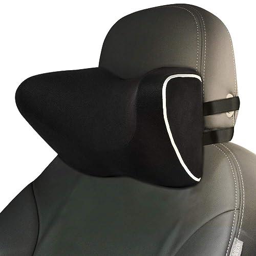 ZATOOTO Memory Foam Auto Kopfst/ütze Kissen Nackenkissen Auto Sitz Kissen Lindert Ersch/öpfung atmungsaktiv Abnehmbarer Bezug Kissen Schwarz 0726