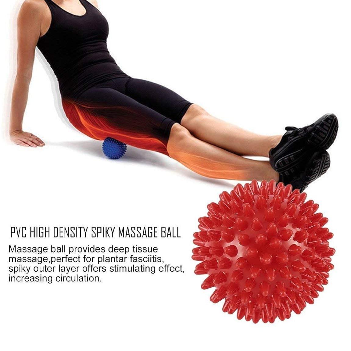 下位櫛効能PVC High Density Spiky Massage Ball Foot Pain & Plantar Fasciitis Reliever Treatment Hedgehog Ball Massage Acupressure Ball