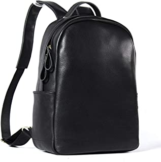 Rjj Leather Shoulder Bag/High-Capacity First Layer of Leather Man Bag Casual/Fashion Leather Men's Business Backpack Exquisite