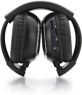 Andoer dois canais dobráveis sistema universal de entretenimento traseiro infravermelho fones de ouvido sem fio IR DVD Pla...