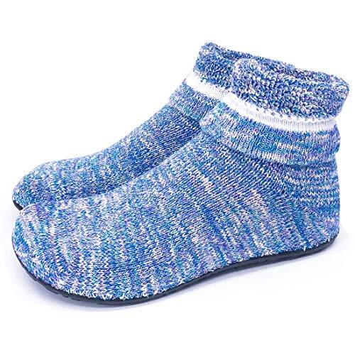 Dream Bridge Womens niet-slip gebreide slipper sokken gezellige indoor vloer werk sokken met rubberen zolen