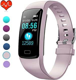 PUBU Fitness Tracker, IP67 Waterproof Fit Watch with Heart Rate Monitor,Sleep Monitor, Pedometer Watch for Women Men Kids