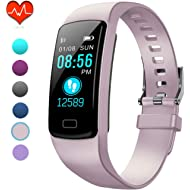 Fitness Tracker, IP67 Waterproof Fit Watch with Heart Rate Monitor,Sleep Monitor, Pedometer Watch...