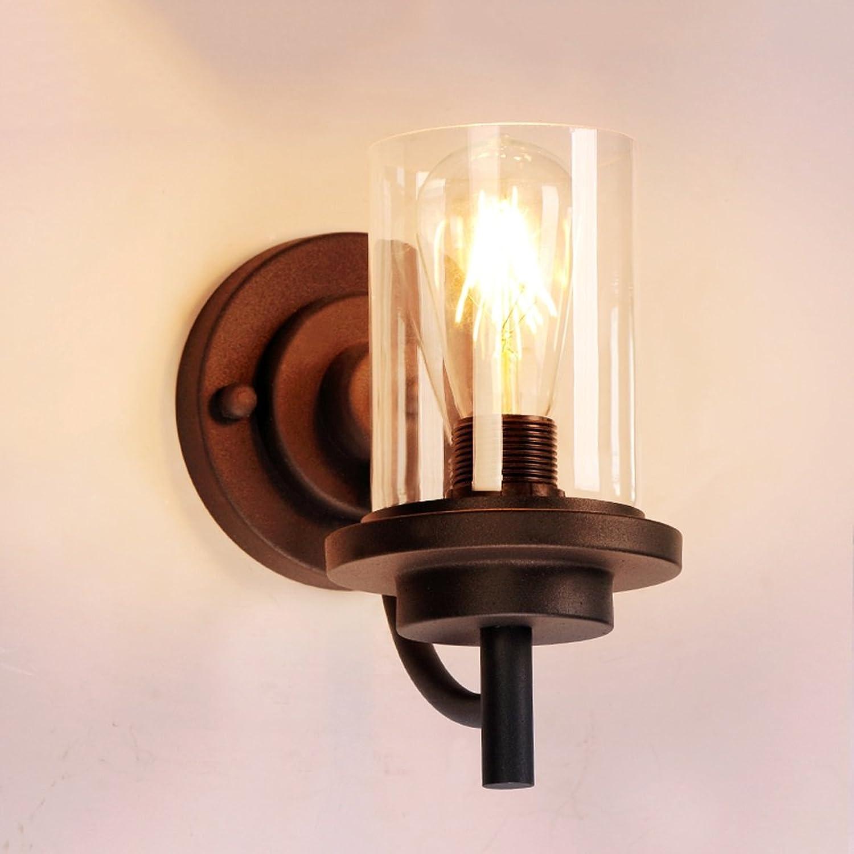 Retro Village Industrial Loft Glas Wandleuchte, Edison E27 Glühbirne Licht Schlafzimmer Nachttisch Beleuchtung, Spiegel Vorne Lampe, Restaurant Bar Licht