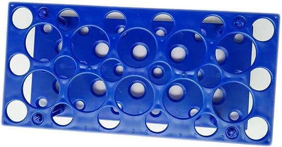 28 Well Centrifuge Tube Rack for 10ml/15ml/50ml Laboratory Plastic Tube Rack Holder(Pack of one) (Blue)