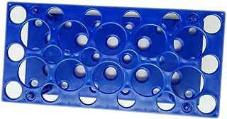 Soporte para tubos de laboratorio de plástico para tubos de 10 ml, 15 ml, 50 ml (paquete de uno), azul, 1