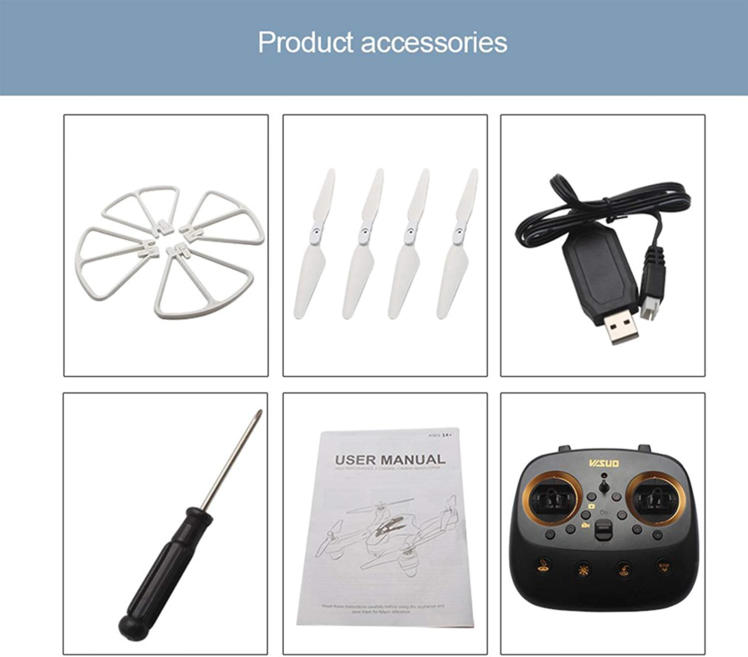 VISUO XS811 RC Drone with Camera HD WiFi FPV Altitude Hold A Return Key Helicopter 2.4g Remote Control Quadcopter