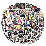70PCS My Hero Academia Anime Stickers Laptop Computer Bedroom Wardrobe Car Skateboard Motorcycle Bicycle Mobile Phone Luggage Guitar DIY Decal (My Hero Academia 70)