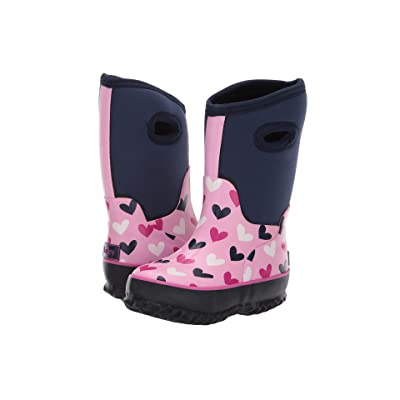 Hatley Kids Neoprene All Weather Boots (Toddler/Little Kid) (Multi Hearts) Girl