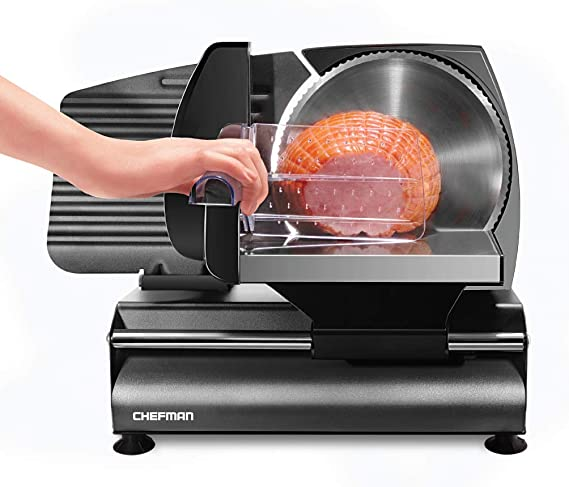 Chefman Die-Cast Electric Deli/Food Slicer Precisely Cuts Meat Cheese