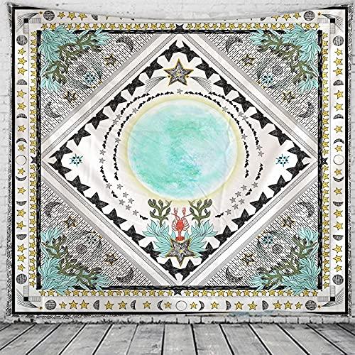 THE MOON Tapisserie Mandala Hexerei Hippie Makramee Tapisserie Boho Dekorativer Wandteppich Hängendes Tuch A1 130x150cm
